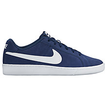 Buy Nike Court Royale Suede Men's Trainer, Navy/White Online at johnlewis.com