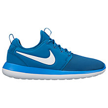 Buy Nike Roshe Two Men's Trainers, Blue Online at johnlewis.com