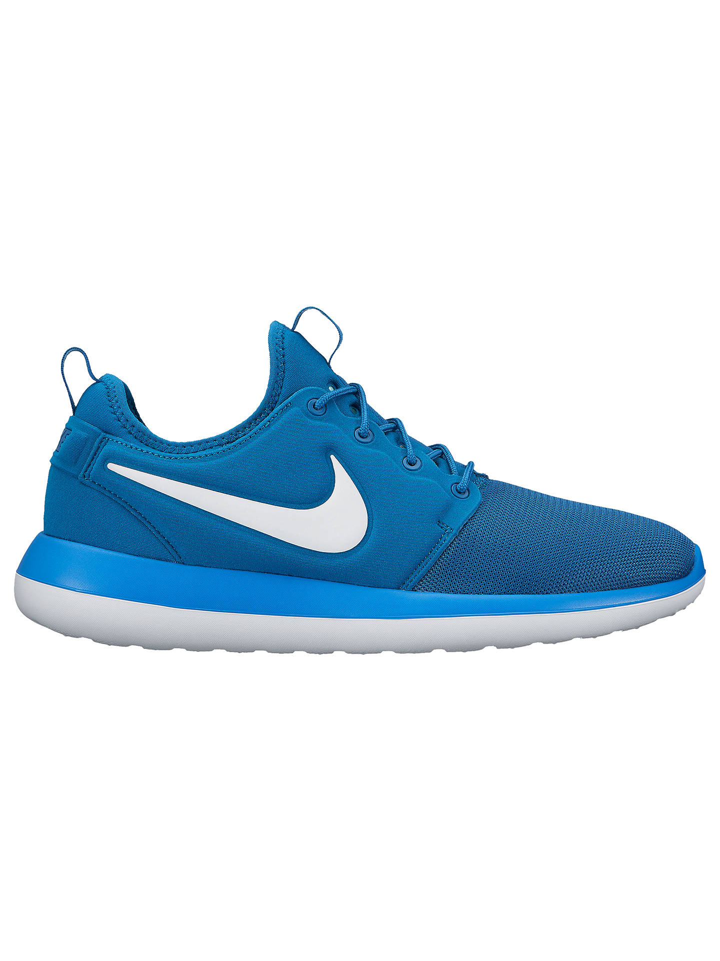 hot sale online b73a0 e5311 Buy Nike Roshe Two Men s Trainers, Blue, 7 Online at johnlewis. ...