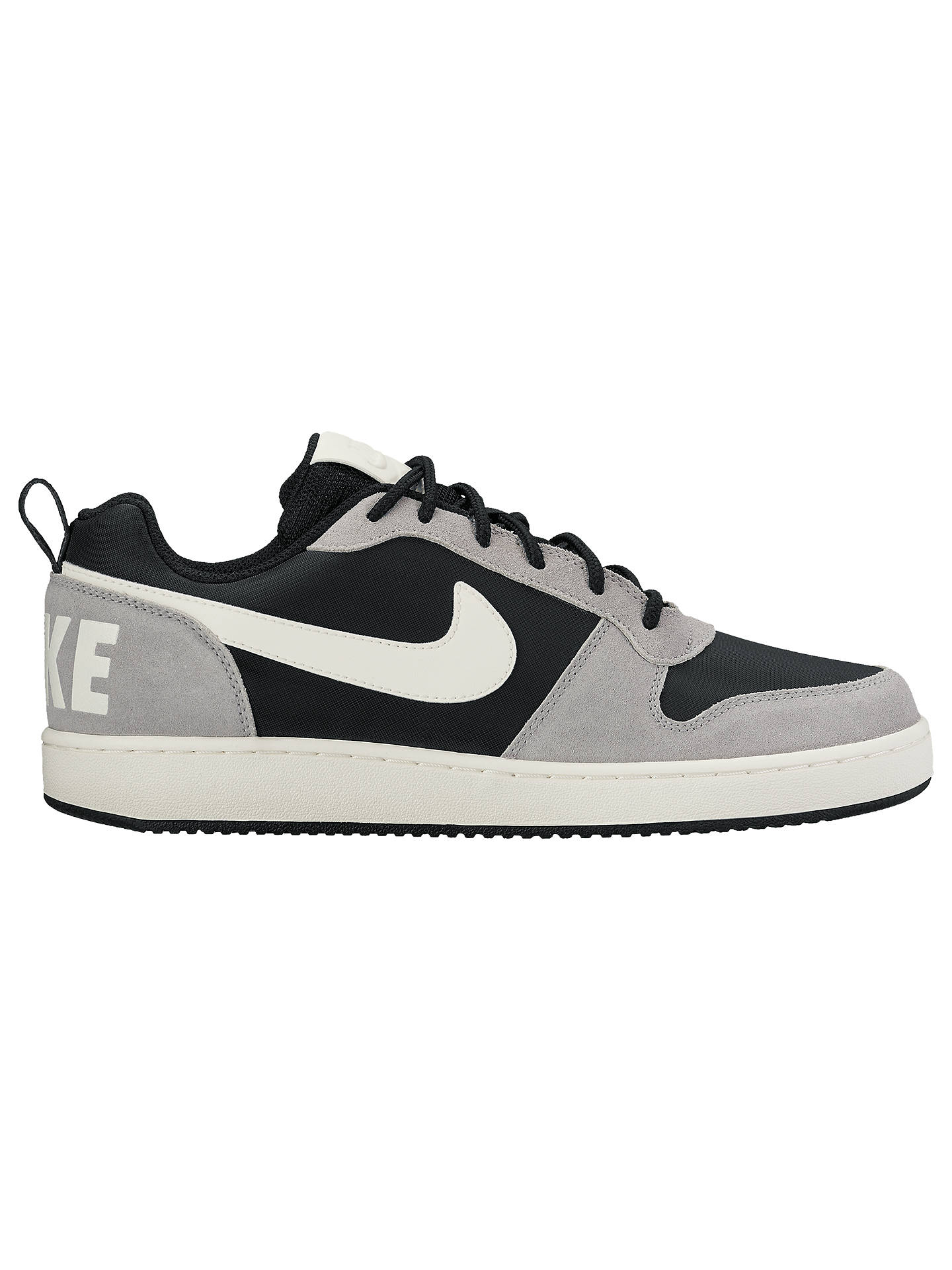 50d4f228db4 Buy Nike Court Borough Low Premium Men's Trainers, Black/Silver, 7 Online  at ...