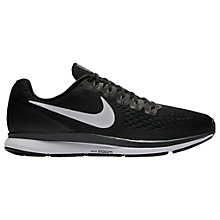Buy Nike Air Zoom Pegasus 34 Men's Running Shoes, Black/White Online at johnlewis.com
