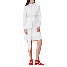 Buy Finery Eastdown Knotted Shirt Dress, Ivory Online at johnlewis.com