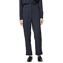 Buy Selected Femme Penny Stripe Trousers, Dark Sapphire Online at johnlewis.com