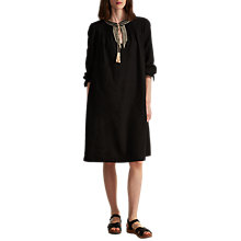 Buy Toast Cotton Khadi Embroidered Dress, Washed Black Online at johnlewis.com
