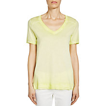 Buy Oui V-Neck T-Shirt, Sunny Lime Online at johnlewis.com
