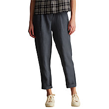 Buy Toast Stripe Linen Trousers, Grey Online at johnlewis.com