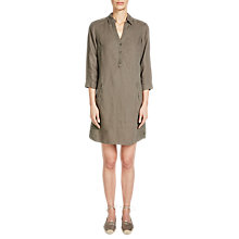 Buy Oui Jersey Back Linen Dress, Summer Mud Online at johnlewis.com