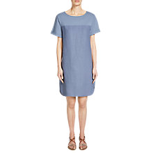 Buy Oui Linen Shift Dress, Vintage Indigo Online at johnlewis.com