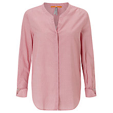 Buy BOSS Orange Efelize Printed Blouse, Bright Pink Online at johnlewis.com