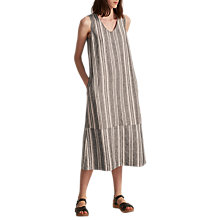 Buy Toast Ticking Stripe Dress, Blue Slate/Ecru Online at johnlewis.com