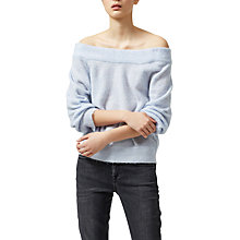 Buy Selected Femme Mia Off Shoulder Jumper, Xenon Blue Online at johnlewis.com