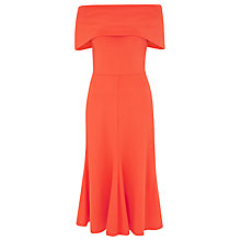 Buy Finery Abbott Off-Shoulder Jersey Dress, Clementine Online at johnlewis.com