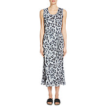 Buy Oui Animal Print Midi Dress, Stone Taupe Online at johnlewis.com