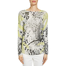 Buy Oui Multi Print Jumper, Grey/Yellow Online at johnlewis.com