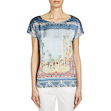 Buy Oui Graphic Printed Top, Multi Online at johnlewis.com