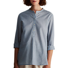 Buy Toast Stripe Voile Shirt, Navy/White Online at johnlewis.com