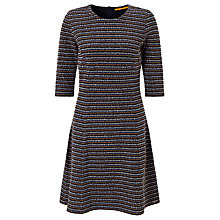 Buy BOSS Orange Dacoca A-Line Stripe Dress, Dark Blue Online at johnlewis.com