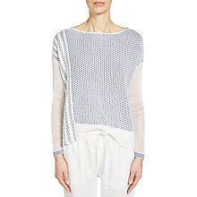 Buy Oui Printed Jumper, White/Blue Online at johnlewis.com