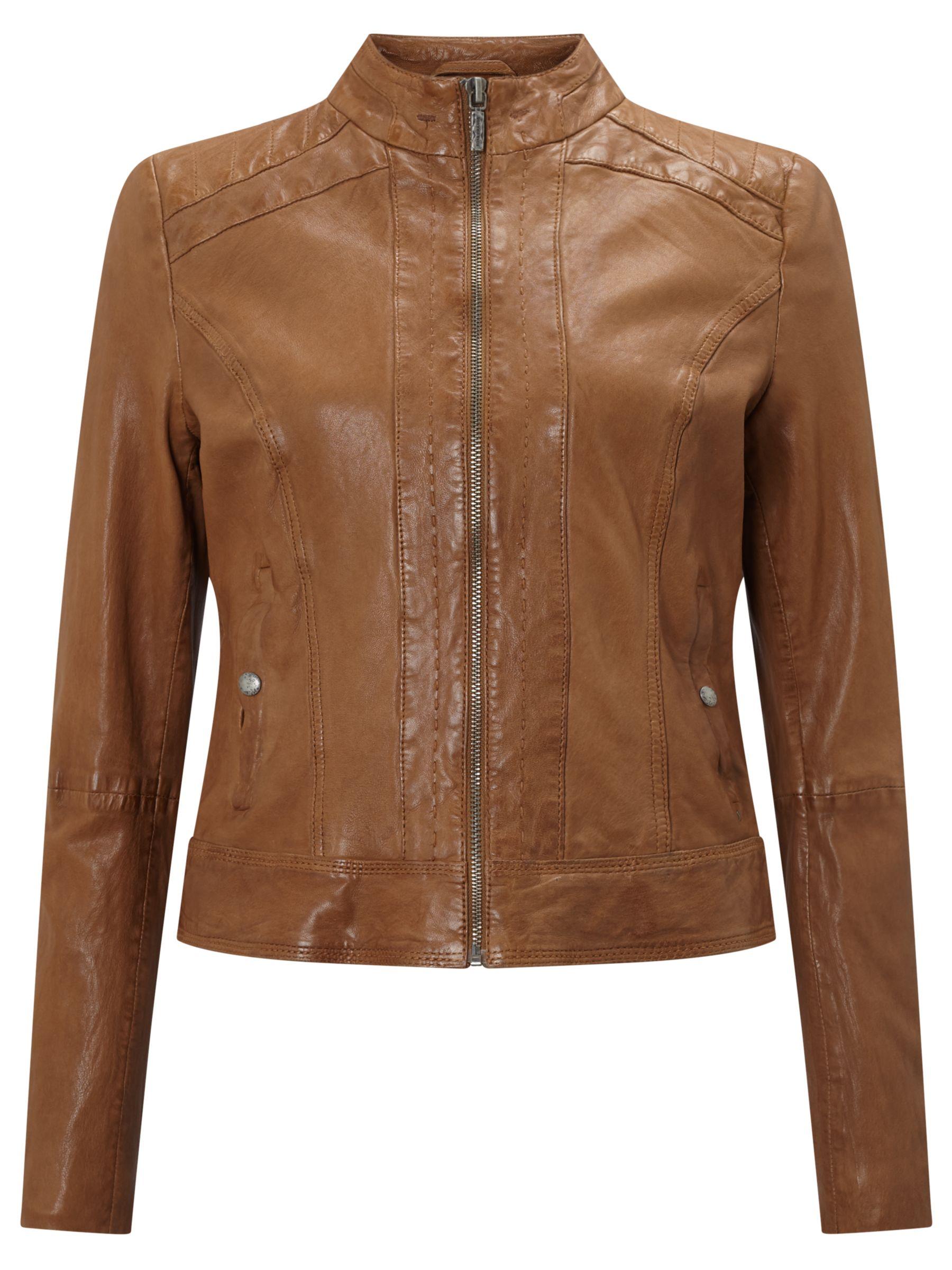 hugo boss tan leather jacket