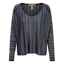 Buy BOSS Orange Winney Relaxed Fit Jumper, Dark Blue Online at johnlewis.com