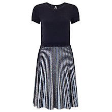 Buy BOSS Orange Wynola Knitted Dress, Dark Blue Online at johnlewis.com