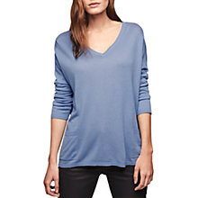 Buy Gerard Darel Abbey Silk Cashmere Blend V-Neck Jumper, Blue Online at johnlewis.com