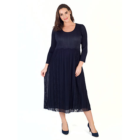 Buy Chesca Crush Pleat Dress, Navy Online at johnlewis.com