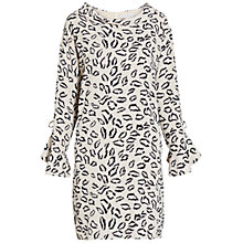 Buy Gina Bacconi Abstract Animal Stretch Georgette Dress, Beige/Navy Online at johnlewis.com