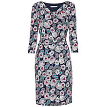 Buy Gina Bacconi Mixed Flower Print Jersey Dress, Navy Online at johnlewis.com