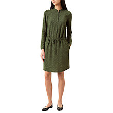 Buy Hobbs Elizabeth Shirt Dress, Green/Navy Online at johnlewis.com