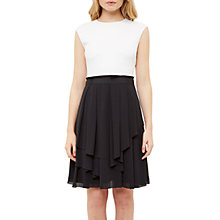 Buy Ted Baker Saleito Soft Layer Ruffle Dress, Black Online at johnlewis.com