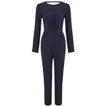 Buy Miss Selfridge Tie Back Jumpsuit, Navy Online at johnlewis.com