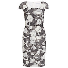 Buy Gina Bacconi 3D Floral Printed Dress, Slate Online at johnlewis.com