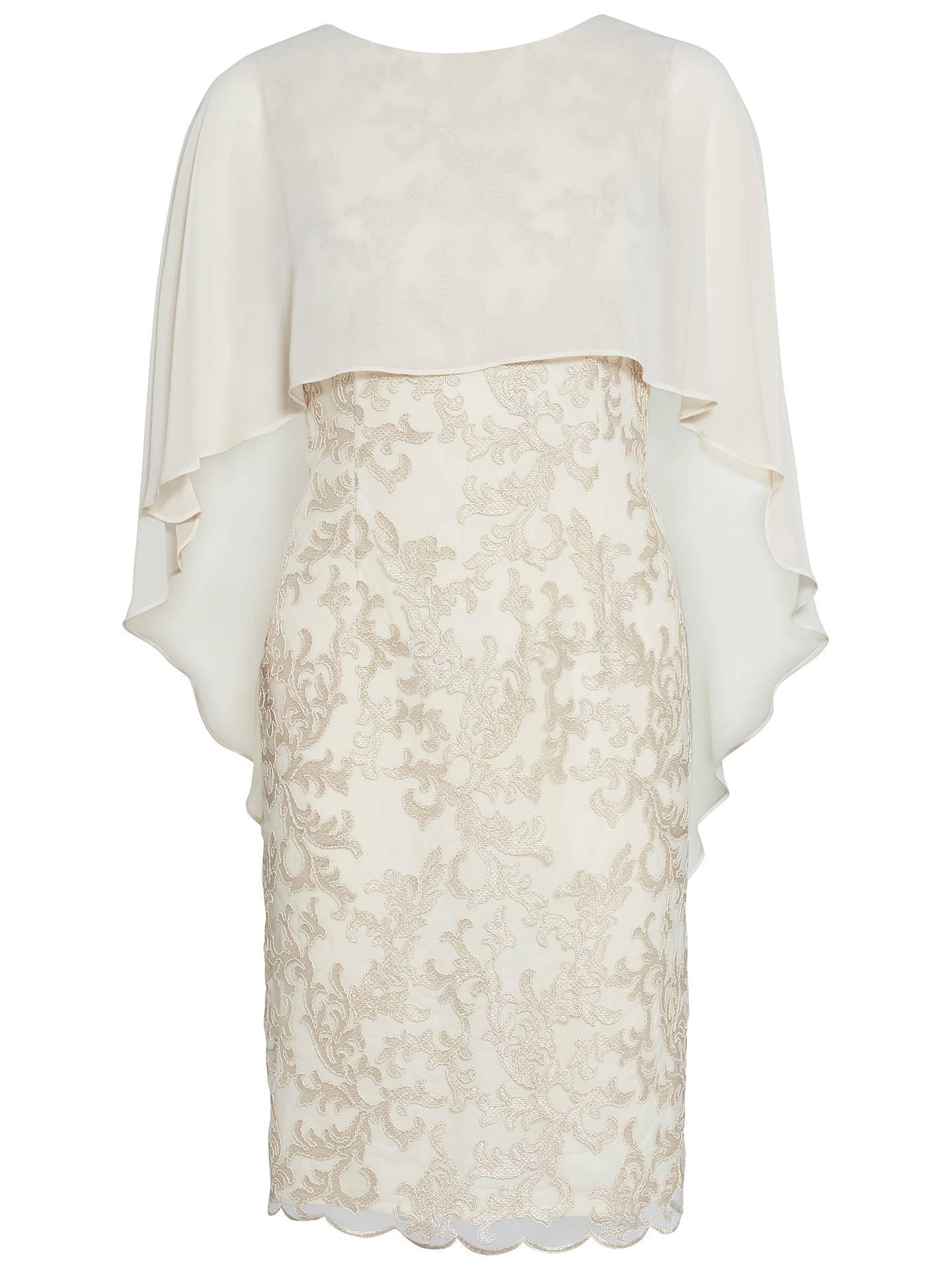 9e74c0ef29f680 Buy Gina Bacconi Corded Lace Dress And Chiffon Cape