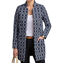 Buy Pure Collection Haylie Jacquard Longline Jacket, Blue Ikat Online at johnlewis.com