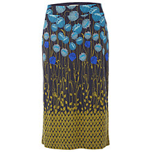 Buy White Stuff Flora Print Midi Skirt, Blue Online at johnlewis.com