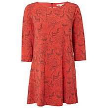 Buy White Stuff Linear Floral Tunic, Spring Red Online at johnlewis.com