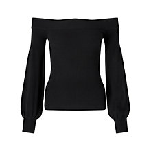 Buy Miss Selfridge Balloon Sleeve Bardot Top Online at johnlewis.com