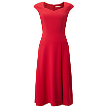 Buy Jacques Vert Flared Crepe Dress, Bright Red Online at johnlewis.com