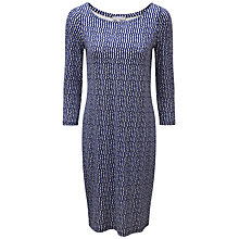 Buy Pure Collection Slash Neck Jersey Dress, Blue Broken Stripe Online at johnlewis.com