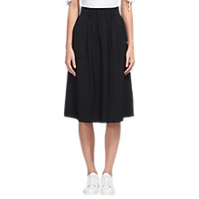 Buy Whistles Adina Casual Pocket Skirt, Black Online at johnlewis.com