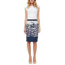 Buy Ted Baker Carpi Entangled Enchantment Pencil Skirt, Dark Blue Online at johnlewis.com