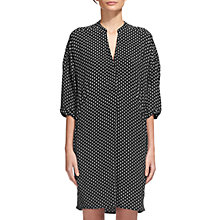 Buy Whistles Ameena Print Lola Dress, Black/White Online at johnlewis.com