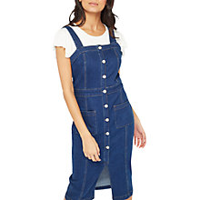 Buy Miss Selfridge Denim Split Front Dress, Blue Online at johnlewis.com