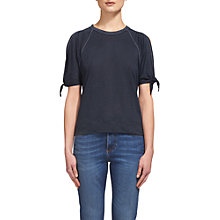 Buy Whistles Tie Cuff Linen T-Shirt Online at johnlewis.com