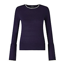 Buy Miss Selfridge Flute Sleeved Tipped Jumper Online at johnlewis.com