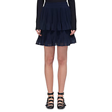 Buy Whistles Ellie Dobbie Tiered Skirt, Navy Online at johnlewis.com