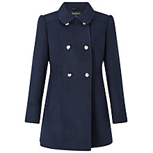 Buy Miss Selfridge Military Pea Coat Online at johnlewis.com