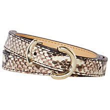 Buy Karen Millen Patterned Ring Skinny Belt, Snake Print Online at johnlewis.com