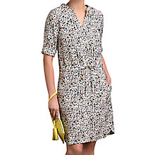 Buy Pure Collection Silk Drawstring Dress, Multi Online at johnlewis.com